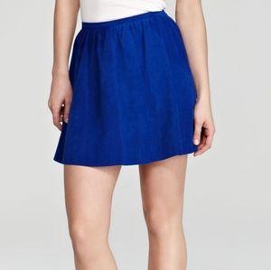 PJK Cobalt Suede Skirt - Size S